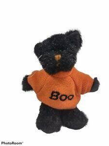 "Boyds Bears Mini Message Cat Halloween 4"" Archive Trix Orange Boo Sweater 567028"
