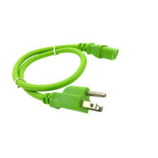 Green 2 FT COMPUTER POWER SUPPLY AC CORD CABLE WIRE FOR HP DELL ACER DESKTOP PC
