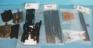 Ian Kirk 7mm Plastic Coach Parts - Bogies Underframe Solebars Brass Buffers etc