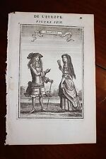 ✒ 1683 MANESSON MALLET un couple d'ANGLAIS Angleterre ENGLAND