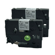 2PK Brother P-Touch Compatible for Tze Tz Label Cartridge TZe-231 Black on White