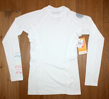 NEW Women's RIP CURL Coast to Coast LONG SLEEVE UV Surf White RASHGUARD - MEDIUM