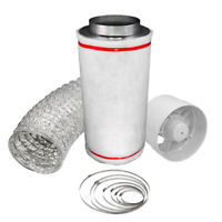 """Hobby 4"""" Carbon Filter Kit Odour Extraction Fan Aluminium 5 Ducting Hydroponics"""