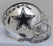 Ezekiel Elliott Autographed Cowboys Chrome Speed Mini Helmet Beckett L64509
