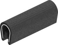 1x m Kantenschutz Kantenschutzprofil Dichtprofil KB 1-3mm PVC schwarz 1C10-10