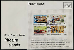 Pitcairn Islands 192 on FDC - Mail Transport, Boat, Tractor