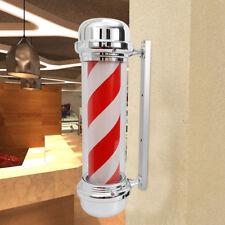"""Hair salon led light rotating led light Red & White 28"""" Barber shop sign light"""