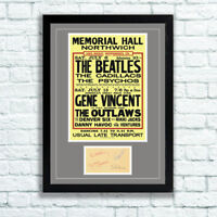 The Beatles Concert Poster and Autographs Memorabilia Poster Northwich 1963