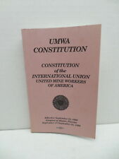 Coal Mining Memorabilia UMWA United Mine Workers 1990 Constitution Booklet