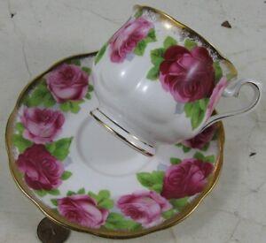 Real Nice Vintage Fancy Cup & Saucer Old English Rose Royal Albert