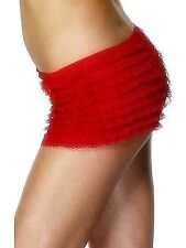 Ladies Ruffled Panties Red With Lace Womens Fancy Dress