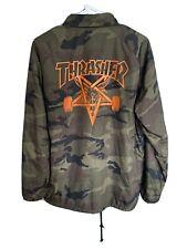 Thrasher Skateboard Coaches Jacket Men's Medium - Camo/Orange