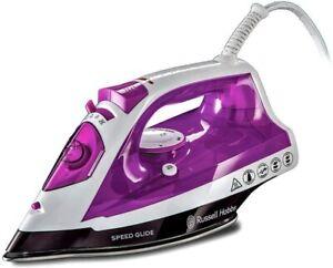 Russell Hobbs 23960 Speedglide Electric Steam Iron, Pink