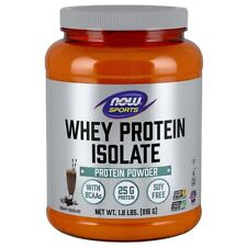 NOW Foods Whey Protein Isolate Chocolate 1.8lbs, Clearance for exp date 08/2020