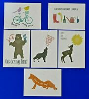 Quality Set of 6 Brand New SPRING Postcards, Gardening, Birds, Sun, Bear LP9