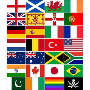 International Flags Football Soccer Supporters Olympics Cricket Nylon 5 x 3ft