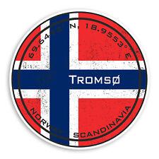 2 x 10cm Tromso Vinyl Stickers Tromsø Norway Flag Sticker Laptop Luggage #20211