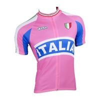 MAGLIA CICLISMO MANICA CORTA ITALIA ROSA CYCLING PINK JERSEY SHORT SLEEVES ITALY