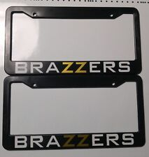 2x brazzers license ​plate frame jdm kdm static camber stance funny honda euro