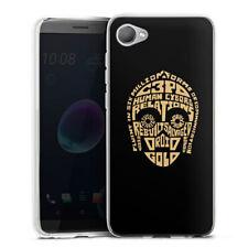 HTC Desire 12 Silicona Funda Case Handy-c3po typo