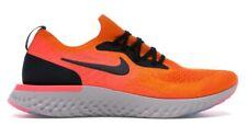 Nike Men's Epic React Flyknit - Copper Flash/Black (AQ0067-800) size 10
