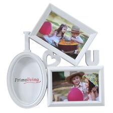 I LOVE U Bildergalerie mit Herz in 3D Optik YOU Bilderrahmen 3 Bilder Weiß P-381