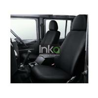 Land Rover Defender INKA Front Set Tailored Waterproof Seat Covers Black MY83-16