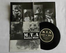 "M.T.A Semtex blues FRENCH Orig 7"" EP + Poster PAYBACK Records (1992) MINT/NMINT"