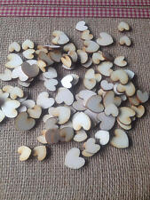60 x Wooden Tiny Hearts for Cardmaking / Scrapbooking -  Laser Ply Free Post