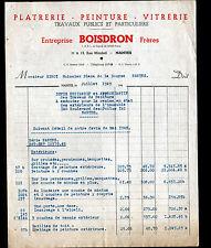 "NANTES (44) PEINTURE VITRERIE PLATRERIE / BATIMENT ""BOISDRON Freres"" en 1949"