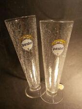 Rares flûtes bière PANTER URTYP verre craquelé très élégantes panthère brasserie