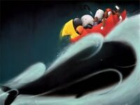 """DOUG HYDE  """"A WHALE OF A TIME""""  NEW   LIMITED EDITION GICLEE PRINT MOUNTED"""