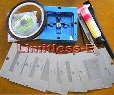 NEW 80mm BGA Reballing Station + 8 pcs universal BGA template + BGA Flux kits
