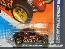 HW HOT WHEELS 2011 HEAT FLEET #9 CUSTOM VW VOLKSWAGEN BEETLE HOTWHEELS RED VHTF
