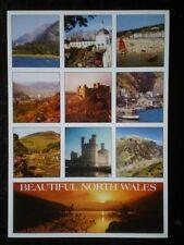 POSTCARD B45-11 BEAUTIFUL NORTH WALES 10 VIEWS (1)