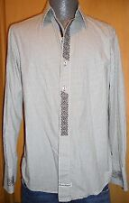 ENGLISH LAUNDRY CHRISTOPHER WICKS EMBROIDERED BROWN GINGHAM MEN'S S DRESS SHIRT!