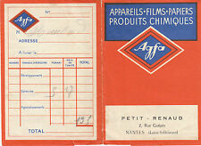 """Pochette Photos Ancienne """" Appareils - Films - Papiers  AGFA   1950 """""""