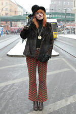 Saga Mink Damen Nerz jacke fur Hopka jacket braun brown 80er True VINTAGE 80´s