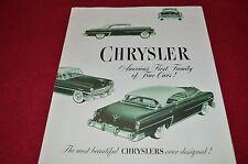 Chrysler For 1953 Cars Car Dealer's Brochure GDSD