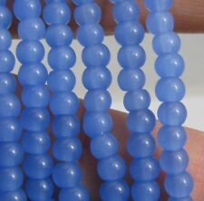 free ship 500pcs charm round glass spacer beads light blue color 4mm