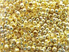 50 Schiaccini 2 mm COLORI ORO endperlen Crimps gioielli realizzerà