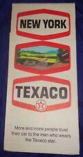 BS714 Vtg Texaco Oil Co. Road Map New York 1969