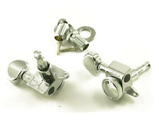 Grover 505CL6 Mini Roto-Grip Locking Rotomatic 6 Inline tuners, Left Hand Chrome