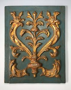 Antique Regency/ Early Victorian Architectural Carved Door Panel