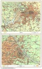 BERLIN VIENNA.Mitteleuropa. Germany Austria. Berlin;Wien;Vienna 1958 old map