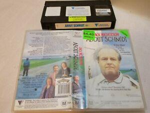 ABOUT SCHMIDT (2002) - RARE Australian Roadshow Vhs Issue Jack Nicholson - DRAMA