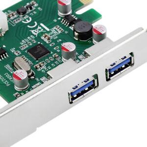 USB 3.0 PCI-E PCI EXPRESS CARD CHIPSET 2 PORT 5 Gbp PCIE CONTROLLER HUB