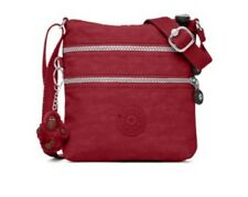Kipling Alvar XS Mini Scarlet Red Nylon Cross body Purse Bag Gorilla Keyring NWT
