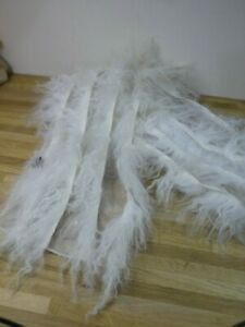 Gorgeous Mongolian Wool & Sheer Fabric Scarf