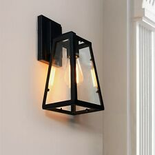 Outdoor Wall Lights Black Chandelier Lighting Vintage Wall Sconce Glass LED Lamp